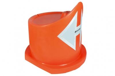 Bumper De Polietileno SemirÍgido Fabricado Por Sistema Rotacional En Una Sola Pieza. Apto Para Llenado Con Arena O Agua - Con Reflectivo