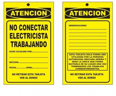 Tarjeta De Alto Impacto De 1 Mm - Medida De 10 X 15 Cm  - Fondo Amarillo.