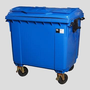Contenedor Para Residuos Inyectado De 1100 Lts. - Contenedor PlÁstico Inyectado En Pead Para Residuos De 120 Lts Con 2 - Ruedas Y Tapa Rebatible
