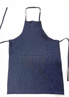 Delantal De Jeans Azul - 8 Oz. - Medida 60 X 90 Cm -