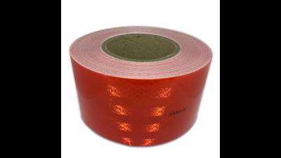 Cinta Reflectiva Color Roja - 75 Mm Ancho X 1 Mt – Marca Prismalite. Grado Diamante.