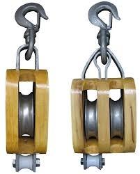 Moton Pasteca Simple De Madera Con Gancho Giratorio - Art. Mot002. Cmt 816 Kg - Coeficiente De Seguridad 3