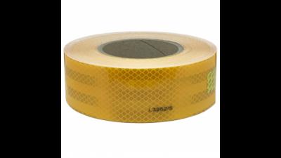 Cinta Reflectiva Color Amarilla - 50 Mm Ancho X 1 Mt – Marca Prismalite. Grado Diamante.