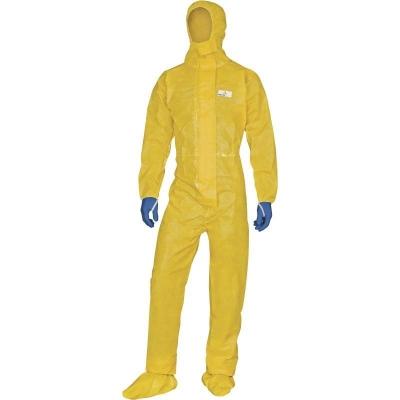 Mameluco Deltatechem® Con Capucha - Costuras Soldadas - Doble Barrera QuÍmica Exterior  AntiestÁtico - 85 Gr/m² - Talle Xl - Marca Deltaplus.