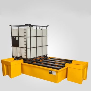 Batea Antiderrame Para 2 Cubitainers - Carga MÁx. 1100 Kgs. / Capacidad De ContenciÓn 1100 Lts.