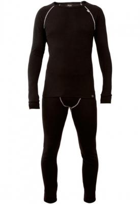 Conjunto Termico Hd1 – 1° Piel. - Poliester 100%  - Color Negro  Marca Hard Work. Talle Xl