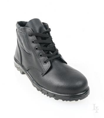 Botin De Seguridad Tipo Prusiano - P/acero  - Suela Pvc Virgen - Cuero  Descarne - Color Negro -  - T/38.