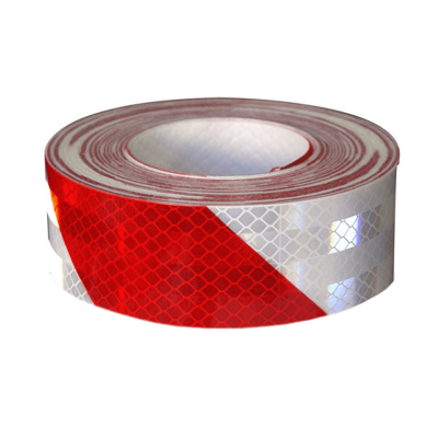 Cinta Reflectiva Color Cebrado  (roja Y Blanca) - 75 Mm Ancho X Rollo De  45.70 Mt