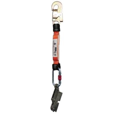 Salva Caida  De Acero Inoxidable Para Cable De Acero De 8 Mm.  Con  Prolongador  De Cinta De 25 Mm. Y Mosqueton De 18 Mm -