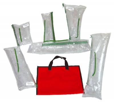 Kit De FÉrulas Inflables - Construidas En Pvc Flexible - Doble Sellado.  Con VÁlvula De Seguridad Para Inflado Son 6 Uni.