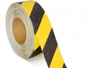 Cinta Adhesiva Antideslizante Negra/amarilla 18 Mt (largo) X 2.5 Cm (ancho) Art. Cd 7298/an - Marca Cd.