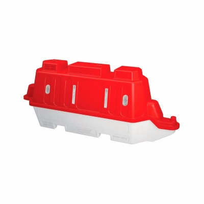 Canalizador Vial Apilable - Construido En Polietileno - Sistema De  Encanstre Por Bisagra Que Permite Un Giro A 180° -sin Reflectivo